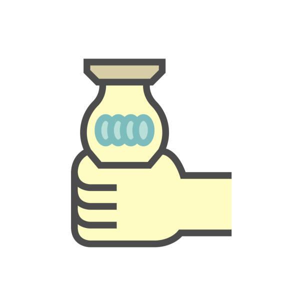 bildbanksillustrationer, clip art samt tecknat material och ikoner med glödlampa ändra vektor ikon design för hem problem grafisk design element, redigerbar linje. - changing bulb led