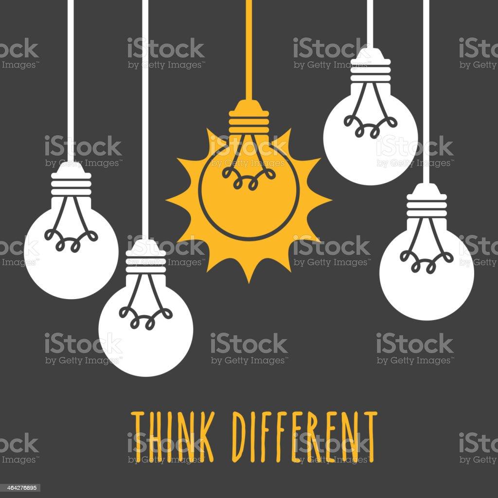 Light Bulb Design, Vector illustration vector art illustration