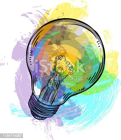 Drawing of Light Bulb. Elements are grouped.contains eps10 and high resolution jpeg.