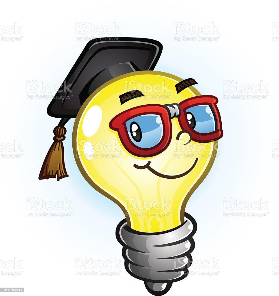 Light Bulb Education Cartoon vector art illustration