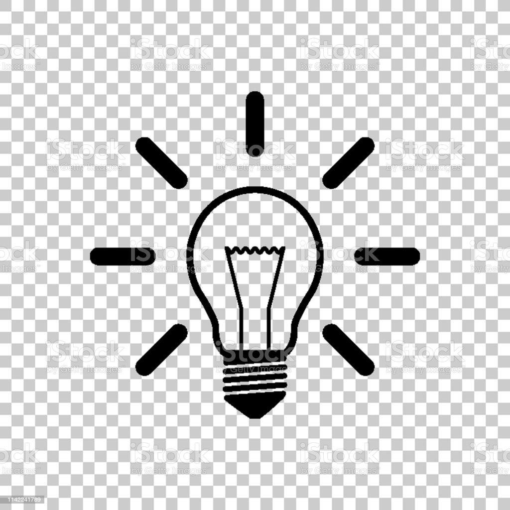 Light bulb - green vector icon