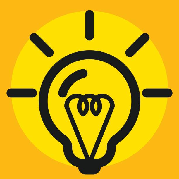 light bulb icon, eco save and recycle energy concept. vector art illustration