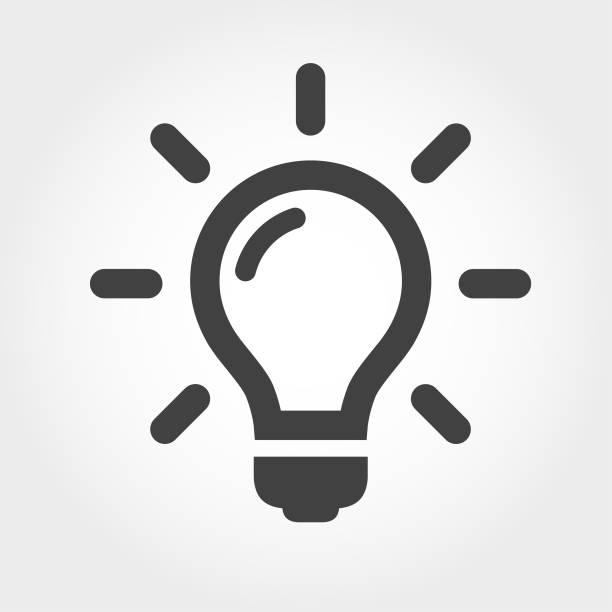 żarówka ikony-ikona serii - natchnienie stock illustrations