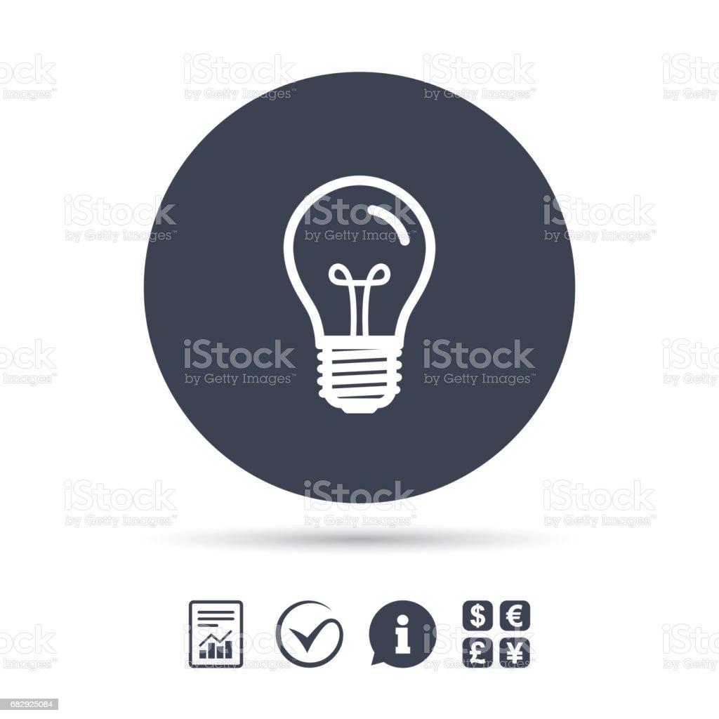 Light bulb icon. Lamp E27 screw socket symbol. royalty-free light bulb icon lamp e27 screw socket symbol stock vector art & more images of art