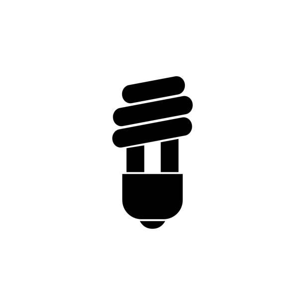 LED light, bulb icon on white background. Can be used for web, logo, mobile app, UI UX LED light, bulb icon on white background. Can be used for web, logo, mobile app, UI, UX canadian football league stock illustrations