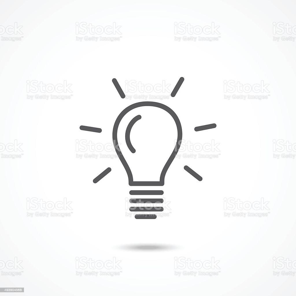 Light Bulb Icon Stock Vector Art 493904568 Istock