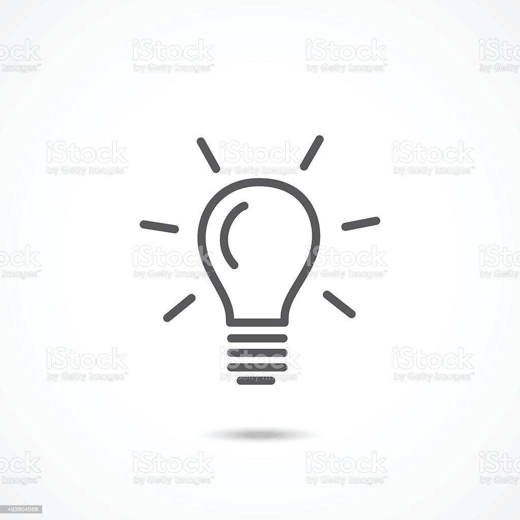 Light bulb icon vector art illustration