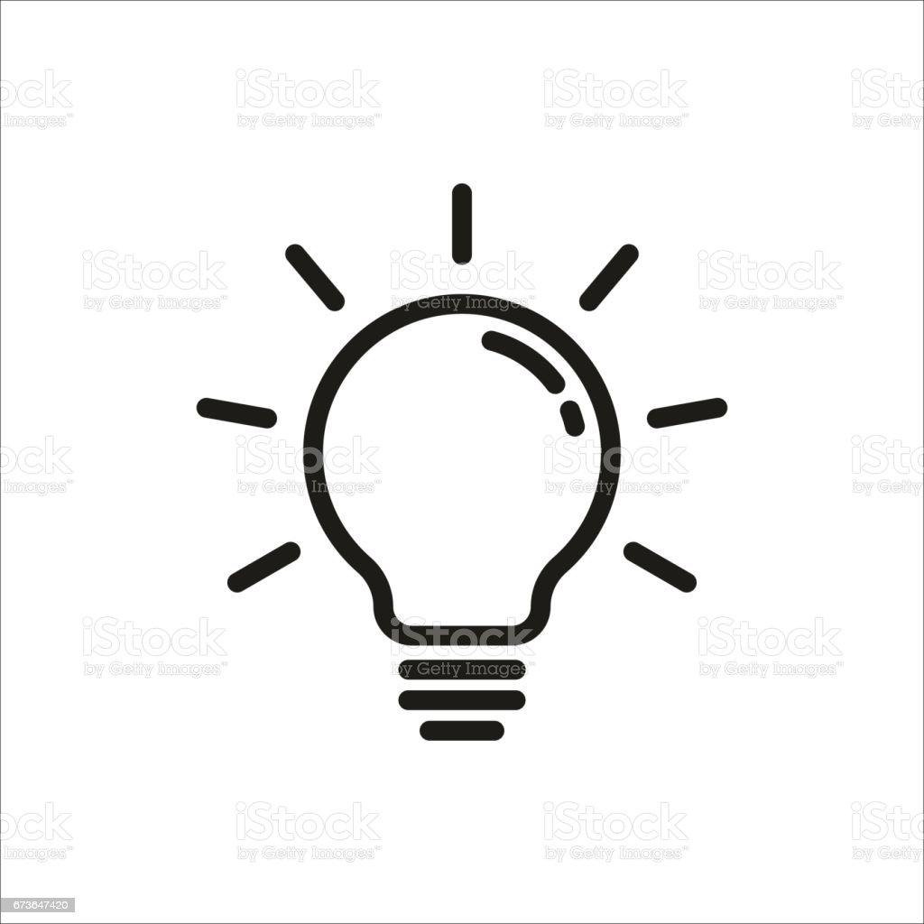 Glühbirne Symbol Stock Vektor Art und mehr Bilder von Ausrüstung und ...