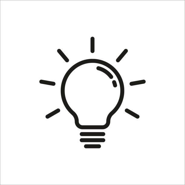 ikona aplikacji light bulb - lampa elektryczna stock illustrations