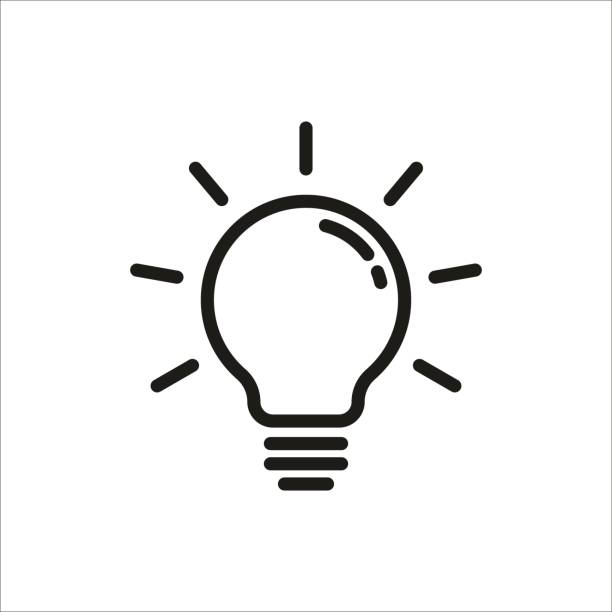 Light Bulb icon Light Bulb icon clip art stock illustrations
