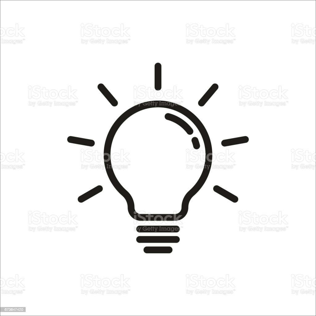 Light Bulb Icon Vector Art Illustration