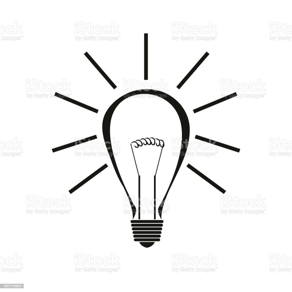 Glühbirne Symbol Stock Vektor Art und mehr Bilder von Alternativer ...