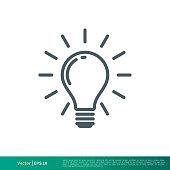 istock Light bulb icon vector logo template 1256081259