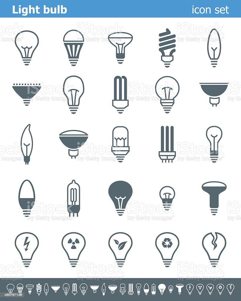 Light bulb icons - Illustration vector art illustration