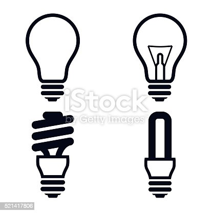 Light bulb icons vector Illustration
