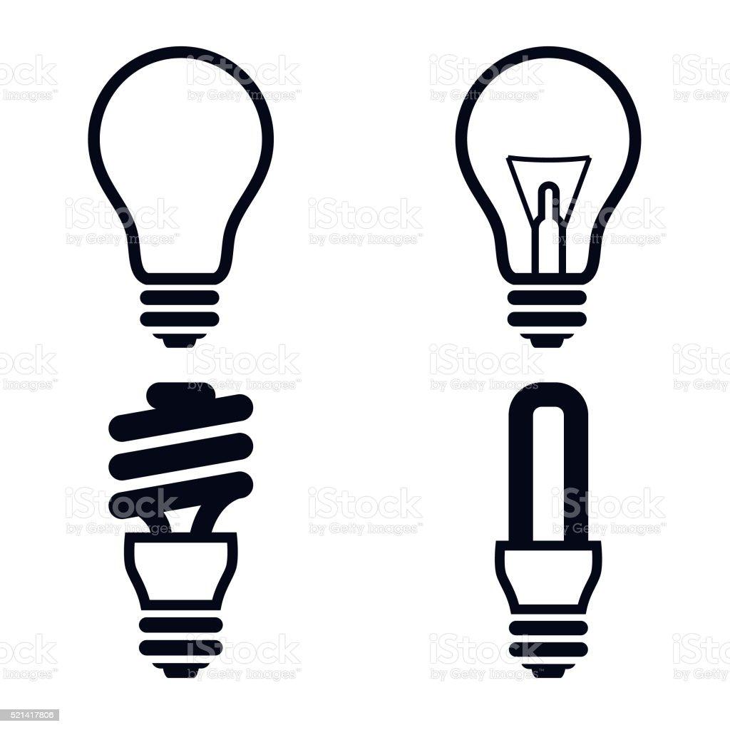 Bombilla de iconos-VECTOR ilustración - ilustración de arte vectorial