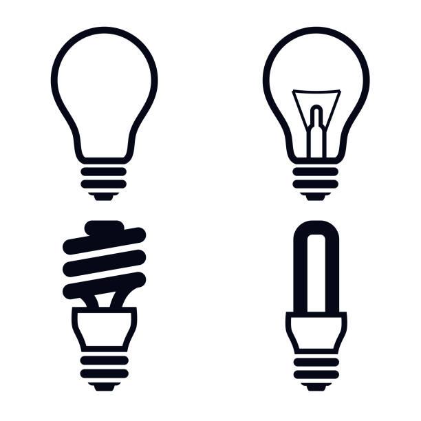 Light Bulb Icons Illustration - VECTOR Light bulb icons vector Illustration energy efficient lightbulb stock illustrations