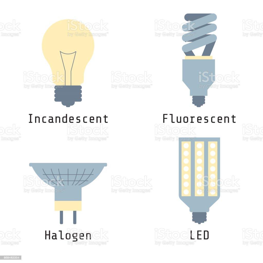 Led Halogènes Vecteurs Dampoule Incandescentes Fluorescentes Icônes PTlkiuXwZO