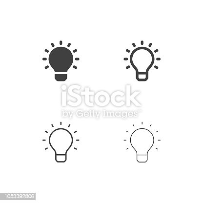 Light Bulb Icons Multi Series Vector EPS File.