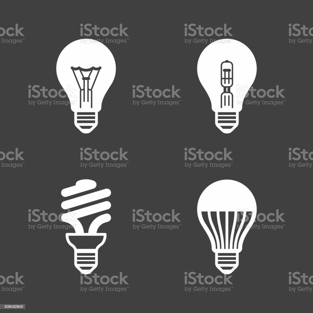 Light bulb icons vector art illustration