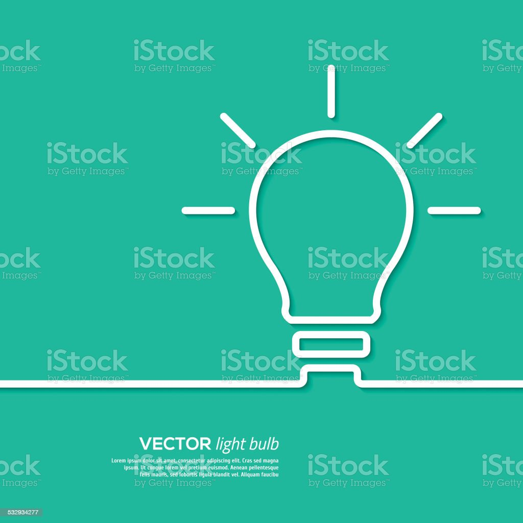 Light bulb idea concept template. Vector illustration. vector art illustration