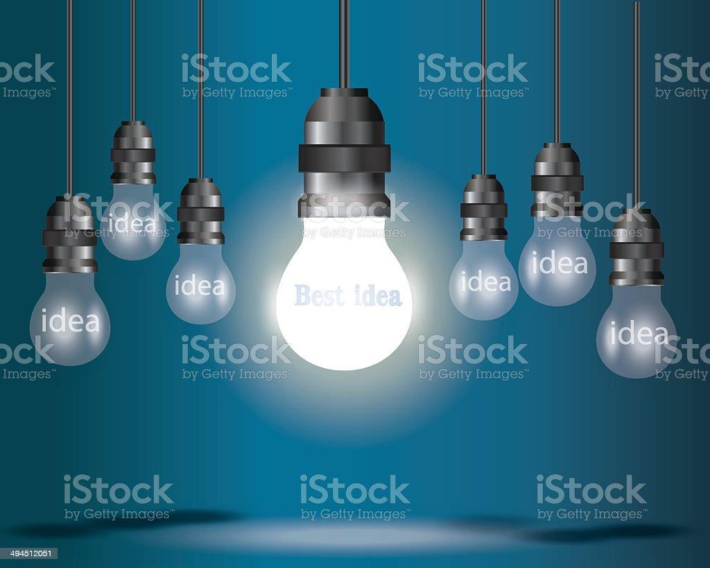 Light bulb idea concept . vector art illustration