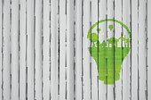 Light bulb idea, creative ecological concepts