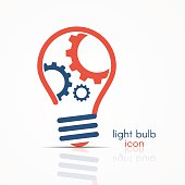 Light bulb idea icon, light bulb logo, light bulb sign, light bulb symbol on white background. Vector illustration