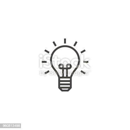 istock light bulb, idea, lamp outline icon vector 960813498
