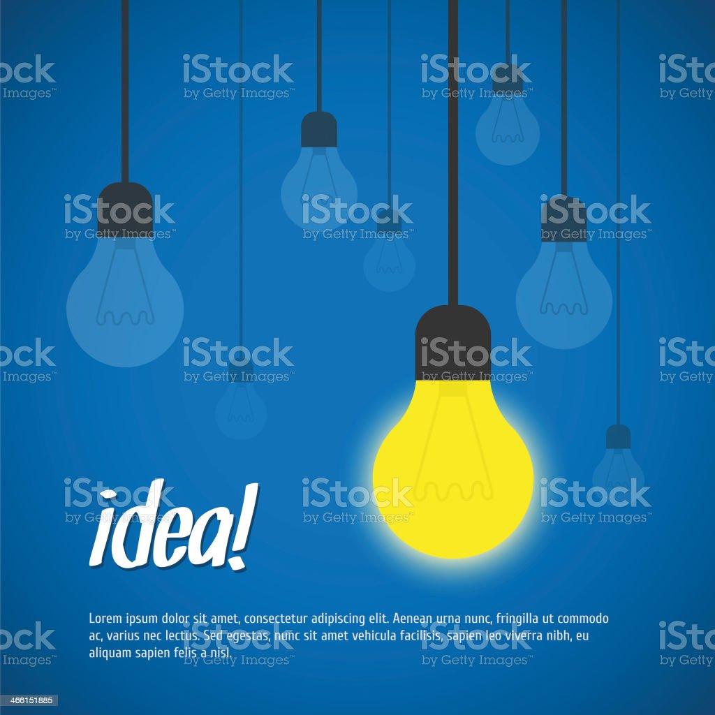 Light bulb idea vector illustration vector art illustration