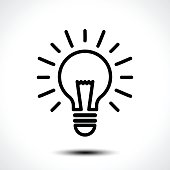 Light bulb idea vector  template. Corporate icon such as type. Vector illustration