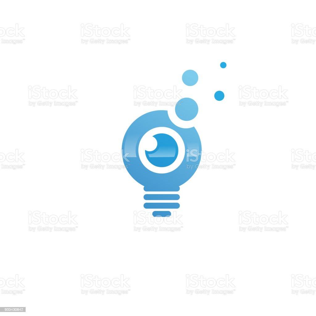 Ilustración de Idea Bombilla Con Plantilla De Vector De Ojo y más ...