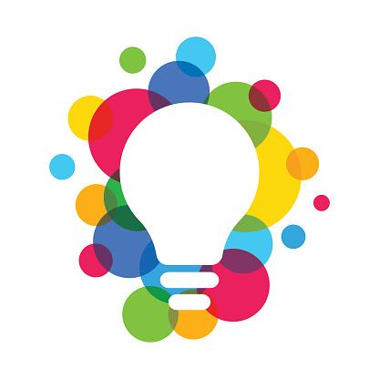 Light Bulb ideas Concept vector eps 10 in white background