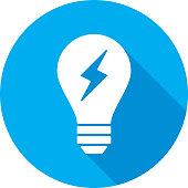 istock Light Bulb Lightning Bolt Icon Silhouette 950922236