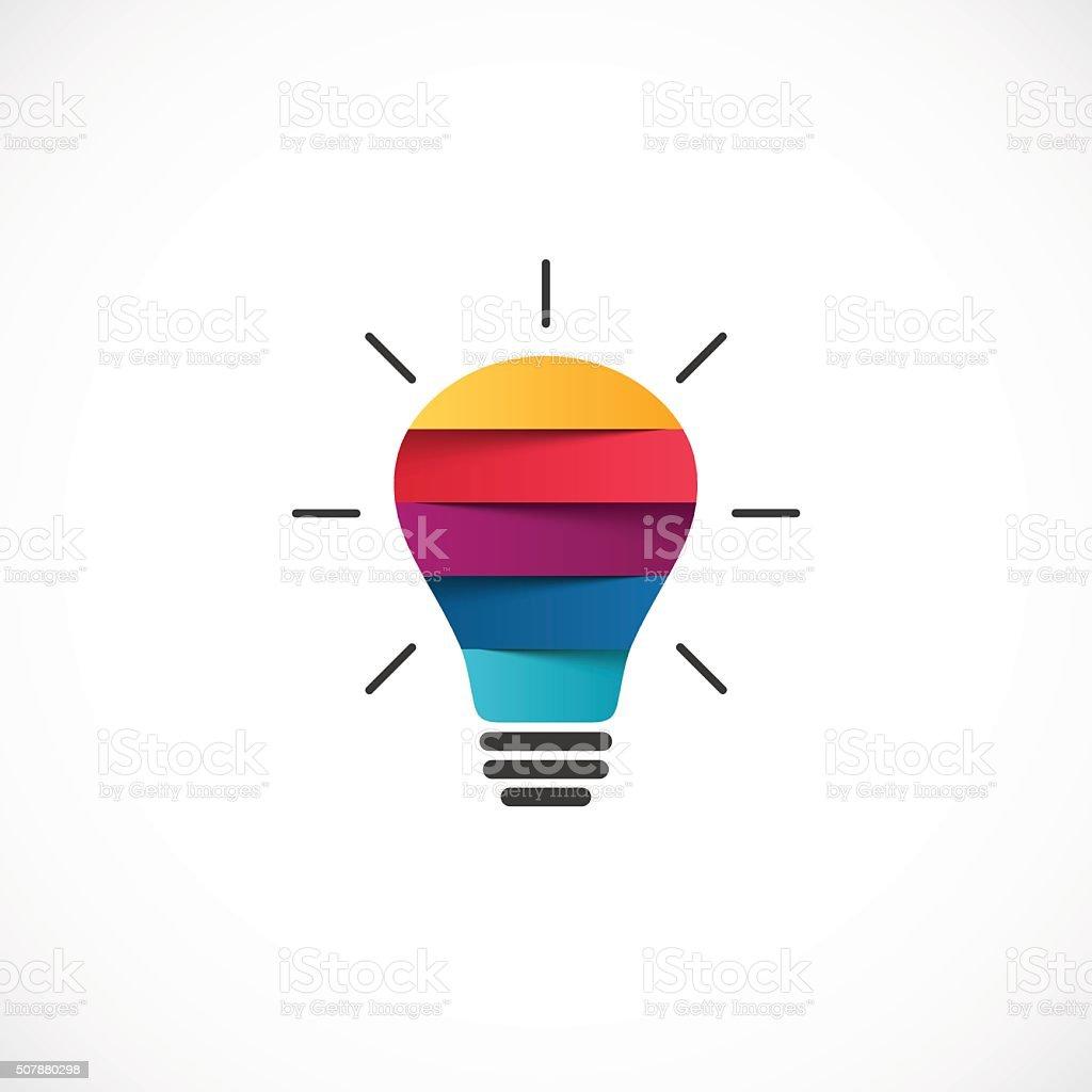 light bulb logo template modern vector abstract creative