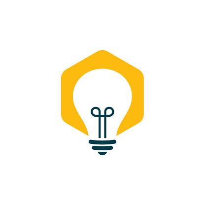Light bulb logo vector design template