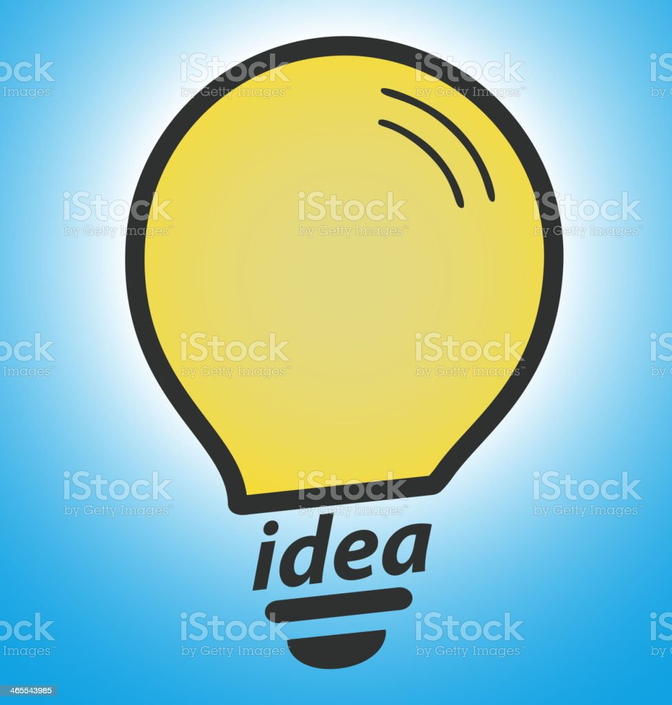 電球の青色の背景に成功のコンセプトアイデア のイラスト素材