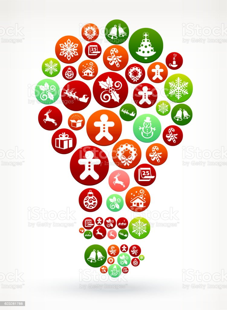 Light Bulb Seasonal Christmas Holiday Graphic Pattern. vector art illustration