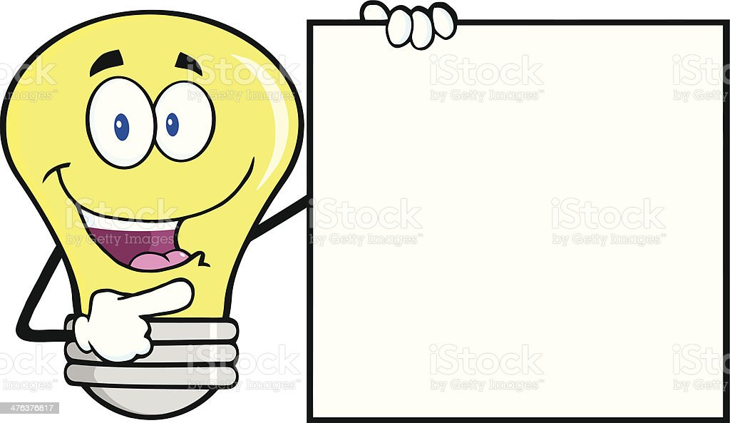 Light Bulb Showing A Blank Sign royalty-free light bulb showing a blank sign stock vector art & more images of aiming