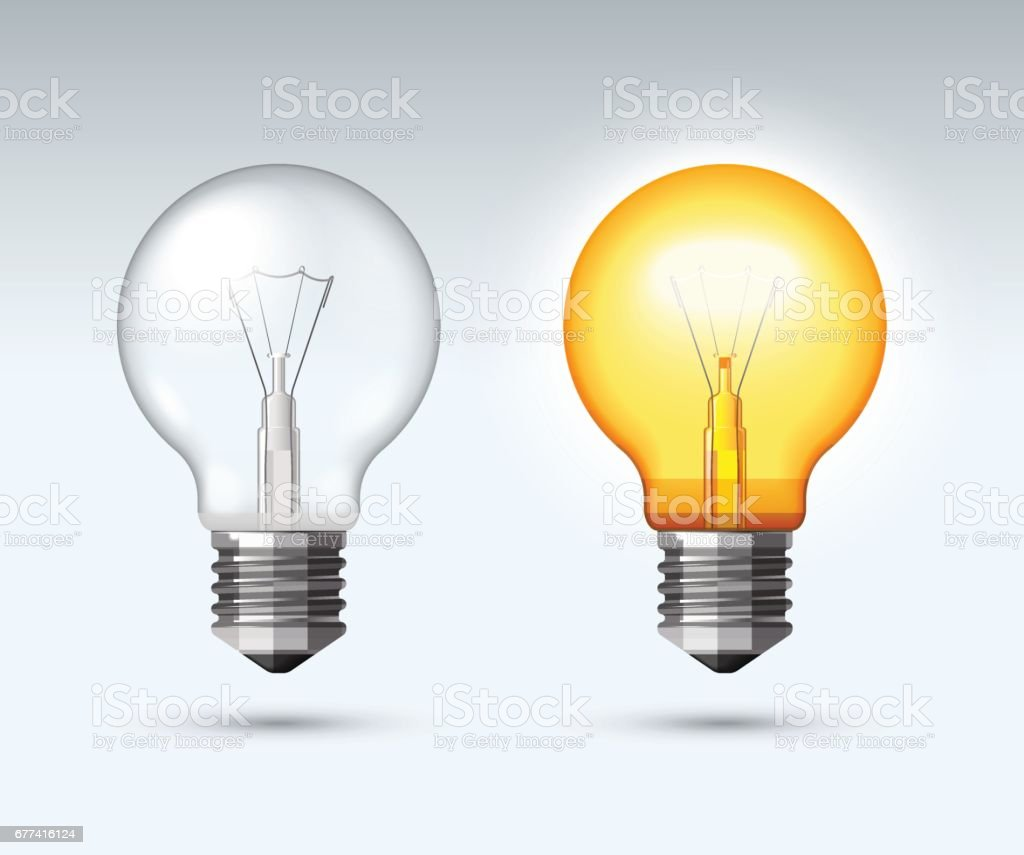 light bulb switched on and off stock vector art more images of brainstorming 677416124 istock. Black Bedroom Furniture Sets. Home Design Ideas