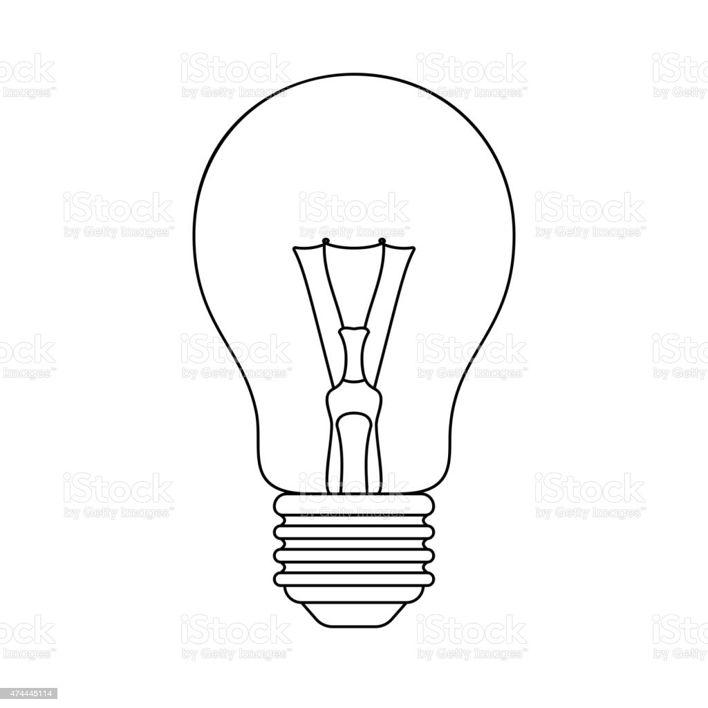 light bulb vector icon stock vector art amp more images of