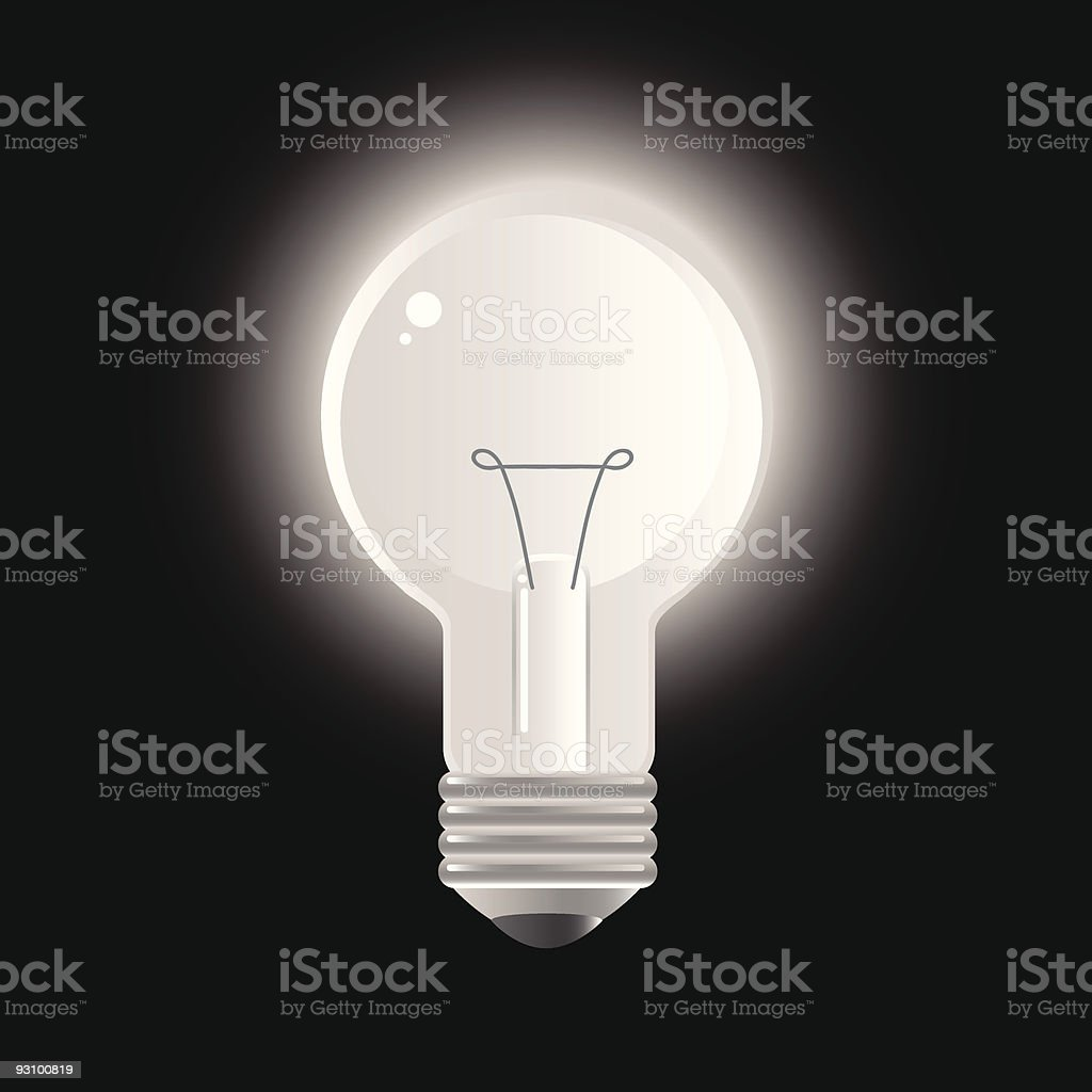 light bulb royalty-free light bulb stock vector art & more images of black color