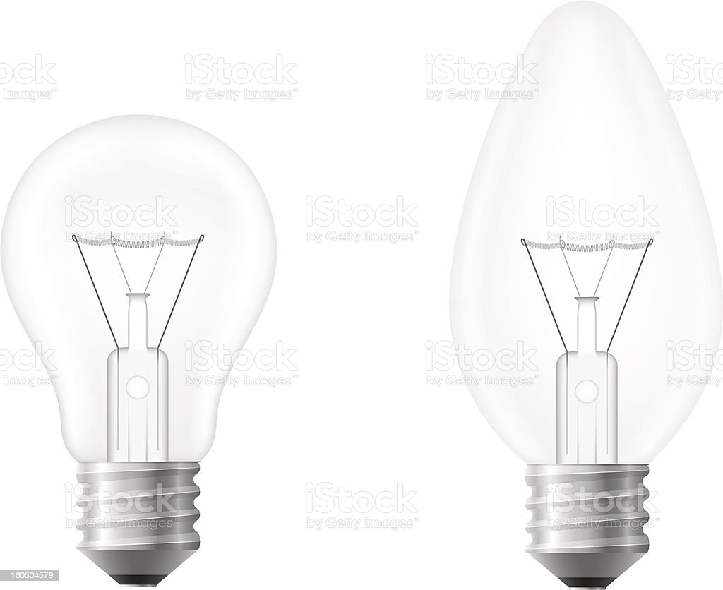 light bulb vector illustration isolated on white background royalty-free light bulb vector illustration isolated on white background stock vector art & more images of clip art