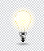 Light bulb vector.