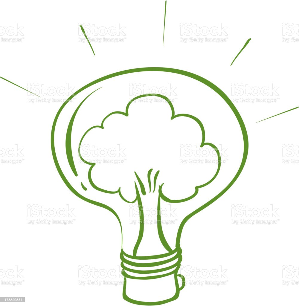 light bulb with a tree inside royalty-free light bulb with a tree inside stock vector art & more images of artist