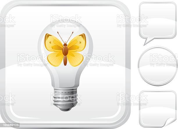 Light bulb with butterfly icon on silver button vector id165689125?b=1&k=6&m=165689125&s=612x612&h=gbfgpxvqjujdyxbyuck2ahklzd e8s5su1wwft a1f8=