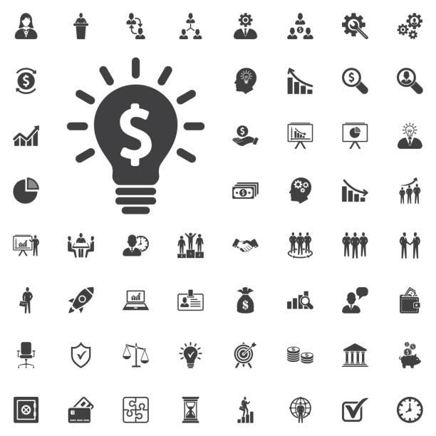 bildbanksillustrationer, clip art samt tecknat material och ikoner med glödlampa med dollarn symbolen affärsidé. - hand tänder ett ljus