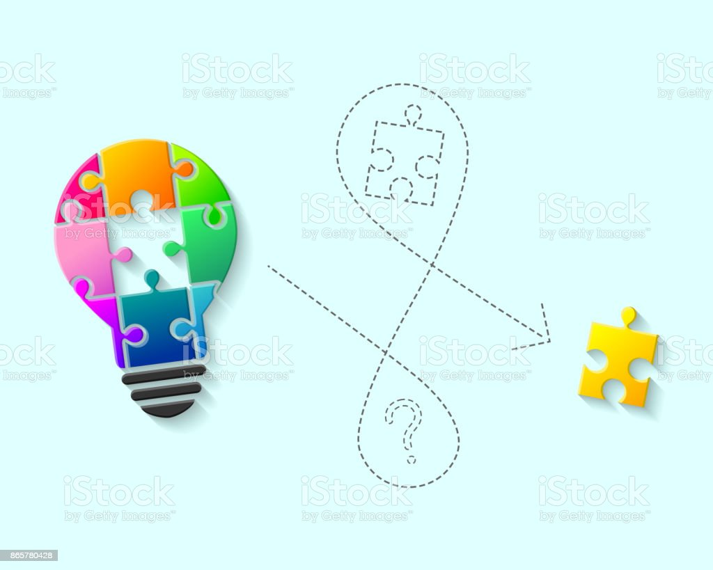 Light bulb with missing puzzle piece concept stock vector art more light bulb with missing puzzle piece concept royalty free light bulb with missing puzzle piece buycottarizona Choice Image