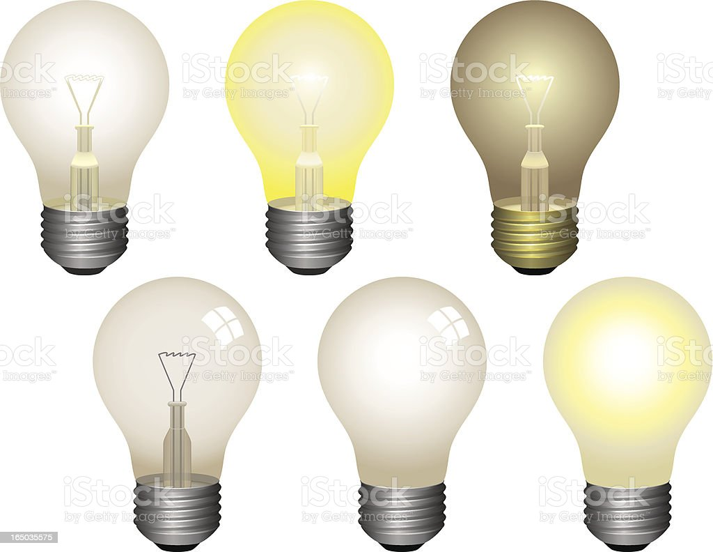 Light Bulbs 6-pack royalty-free stock vector art
