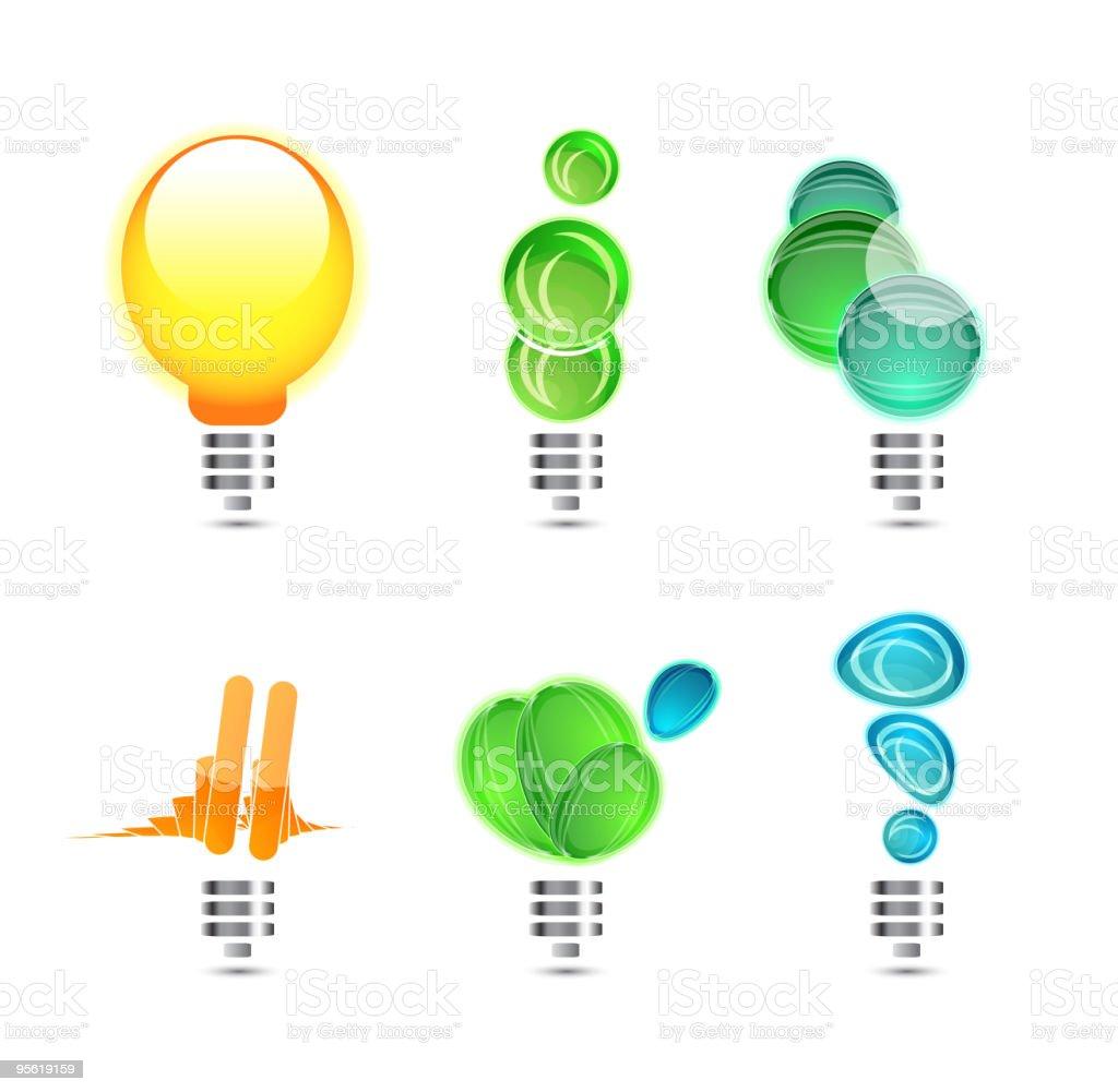Light bulbs concepts royalty-free stock vector art